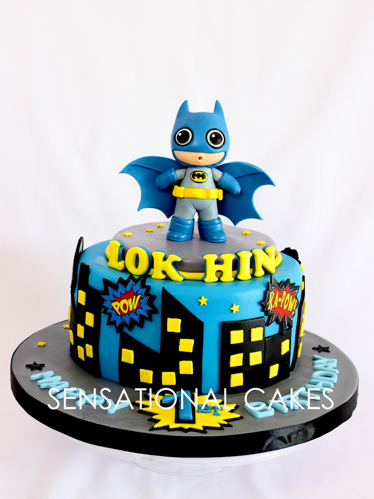The Sensational Cakes Cute Cartoon Batman Customized Cake