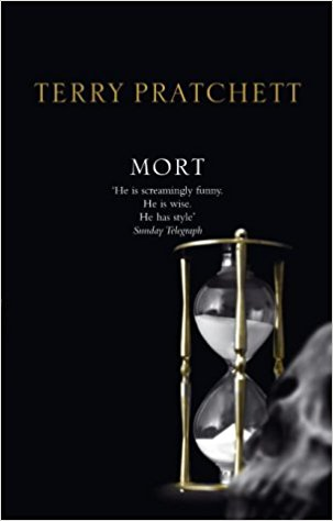 Book cover for Terry Pratchett's Mort in the South Manchester, Chorlton, and Didsbury book group