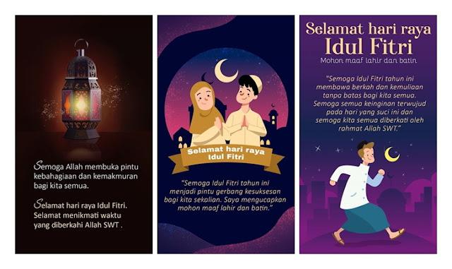 Gambar Ucapan Selamat Hari Raya Idul Fitri 1441 H / 2020, Cocok Buat Insta Story, FB dan WA
