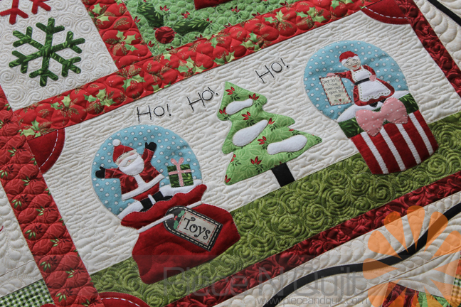 Piece N Quilt Snow Globe Village Quilt Custom Machine