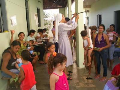 Caring for poor Children in Brasil