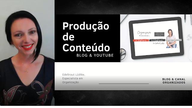 produção de conteúdo (blog e youtube)
