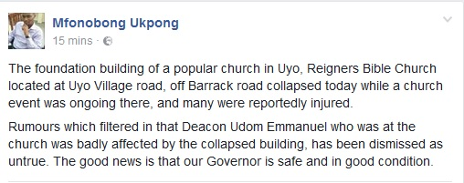 Church Building Collapses In Akwa Ibom During Service, Many Feared Injured. (Photos)