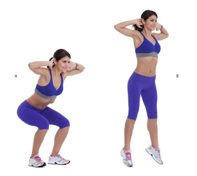 3. Squat avec le saut (Jumping Squat)