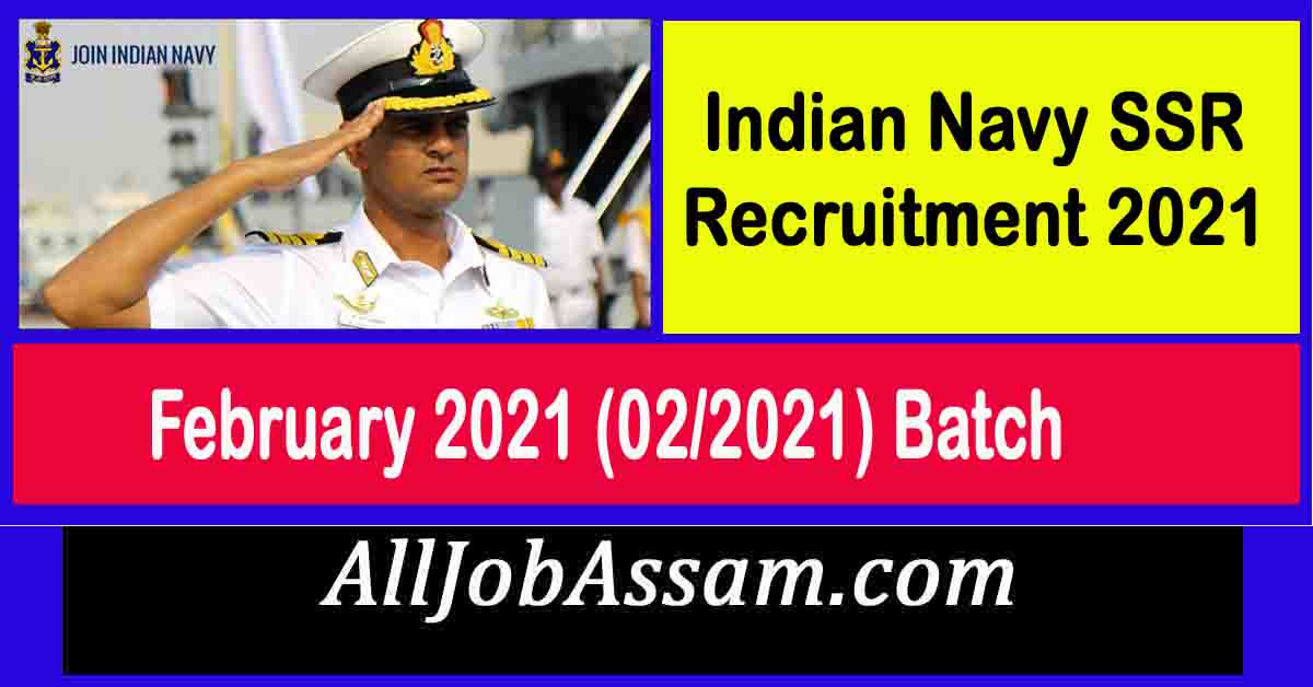 Indian Navy SSR Recruitment 2021