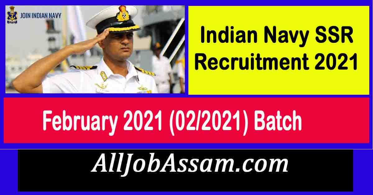 Indian Navy SSR Recruitment 2021