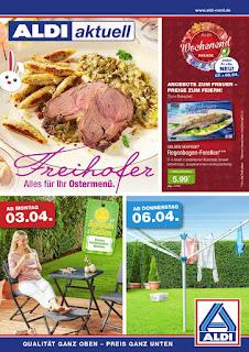 Aldi Nord Prospekt - Woche 14 - Angebote ab 3. April bis 8. April 2017