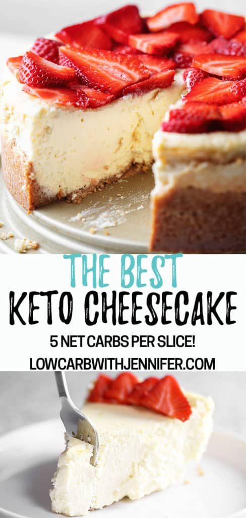 "This really is the best low carb and keto cheesecake. Even my non-keto family proclaimed ""This is the best cheesecake I have ever had!"""
