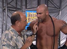 WCW Bash at the Beach - Mean Gene interviews Bill Goldberg