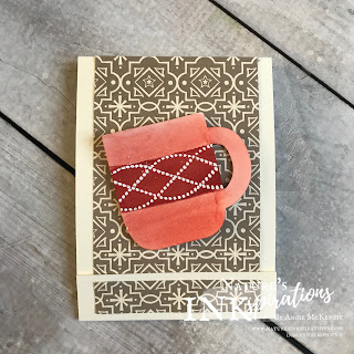 "By Angie McKenzie for 3rd Thursdays Blog Hop; Click READ or VISIT to go to my blog for details! Featuring the Night Before Christmas 6"" x 6"" Designer Series Paper and Cup of Cheer Dies from the Stampin' Up! 2019 Holiday Catalog;  #stampinup #christmas #naturesinkspirations #beautifullybraidedstampset #cupofcheerdies #nightbeforechristmasdsp #cardtechniques #3dprojects"