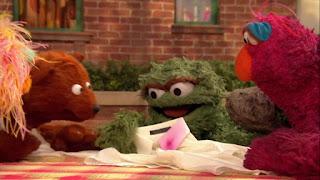 Sesame Street Episode 4304 Baby Bear Comes Clean, baby bear, oscar, telly