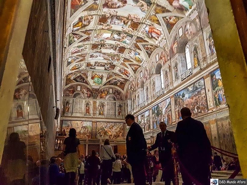 Capela Sistina nos Museus do Vaticano - o que fazer no Vaticano