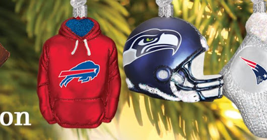 New NFL Ornaments from Old World Christmas!