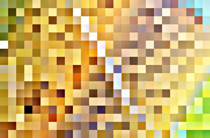 Karya gambar abstrak kotak-kotak