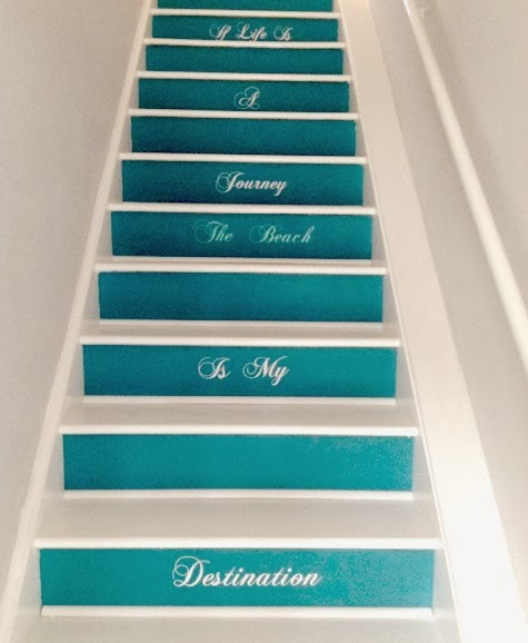 staircase with decals
