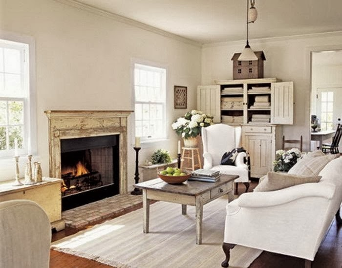 traditional cream living area