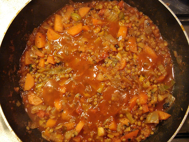 Green Lentil and Vegetable Hotpot
