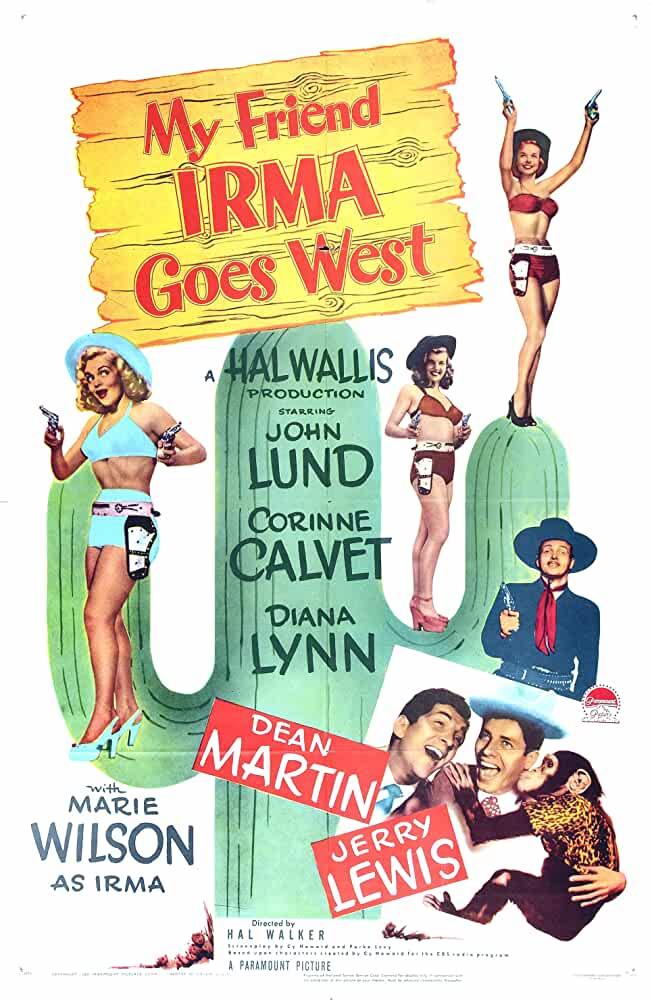 My Friend Irma Goes West 1950 English 720p 800MB WEBRip
