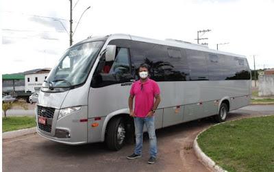 Piatã/BA: Prefeito Marcos Paulo anuncia aquisição de  ônibus  para  transporte de usuários da saúde