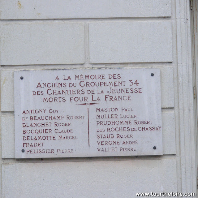 Memorial to the Chantiers Jeunesse (youth workers) who lost their lives in the Second World War, Indre, France. Photo by Loire Valley Time Travel.