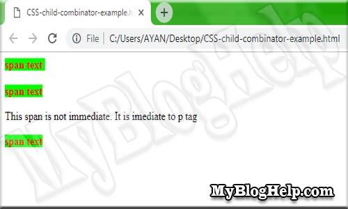 CSS child combinator