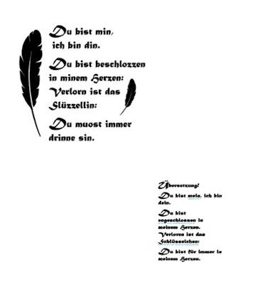 Geschenk Schriftrolle Hochzeit Mittelalter
