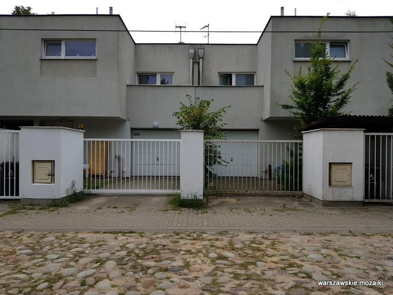 Warszawa Warsaw Młociny miasto ogród willa bruk ulica bielany