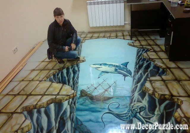 3d bathroom floor art murals, self-leveling floors for bathroom, 3d floor art