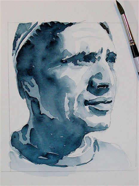 Jill Polsby Day 139 Tuesday October 11 - David Lobenberg' Portraits In Payne' Grey