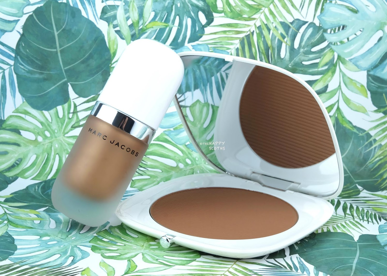 "Marc Jacobs | *NEW* Summer 2019 ""Tantalize"" Dew Drops Coconut Gel Highlighter & O!Mega Bronzer Coconut Perfect Tan: Review and Swatches"