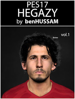 PES 2017 Faces Ahmed Hegazi by BenHussam