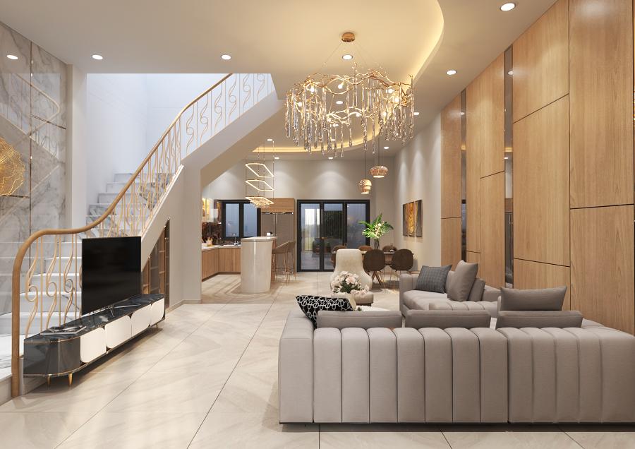 Hình ảnh thiết kế kiến trúc nội thất nhà phố biệt thự