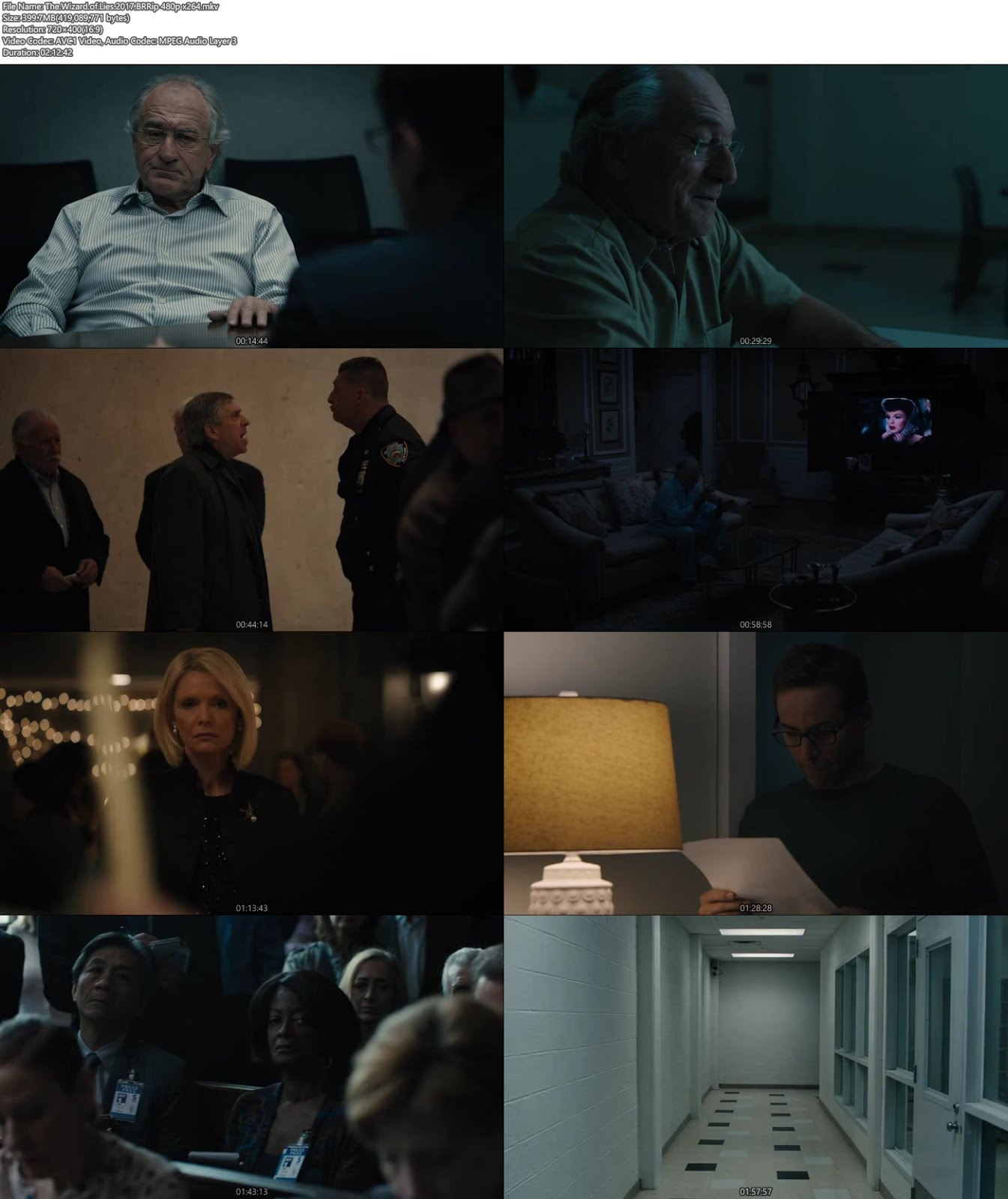 The Wizard of Lies 2017 BRRip 480p 400MB x264 Screenshot