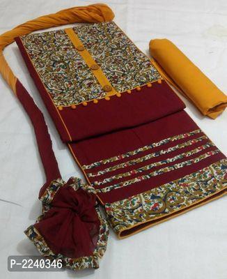 Handloom Cotton Kalamkari Patch Dress Material