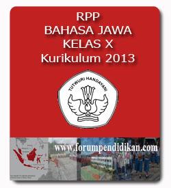 RPP Bahasa Jawa Kelas X, Kurikulum 2013