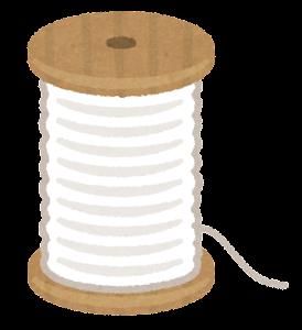 糸巻きのイラスト(白)