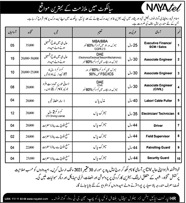 Nayatel  Private Limited Latest Jobs 2021 - Online Apply