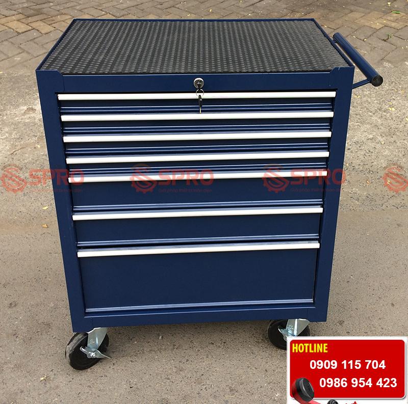tủ kéo đựng dụng cụ đồ nghề, thiết bị sửa xe máy 7 ngăn