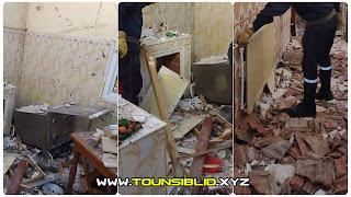 (بالفيديو و الصور) إنفجار قارورة غاز بمنزل في بن عروس و اصابةخطيرة لكهل عمره 51 عاما