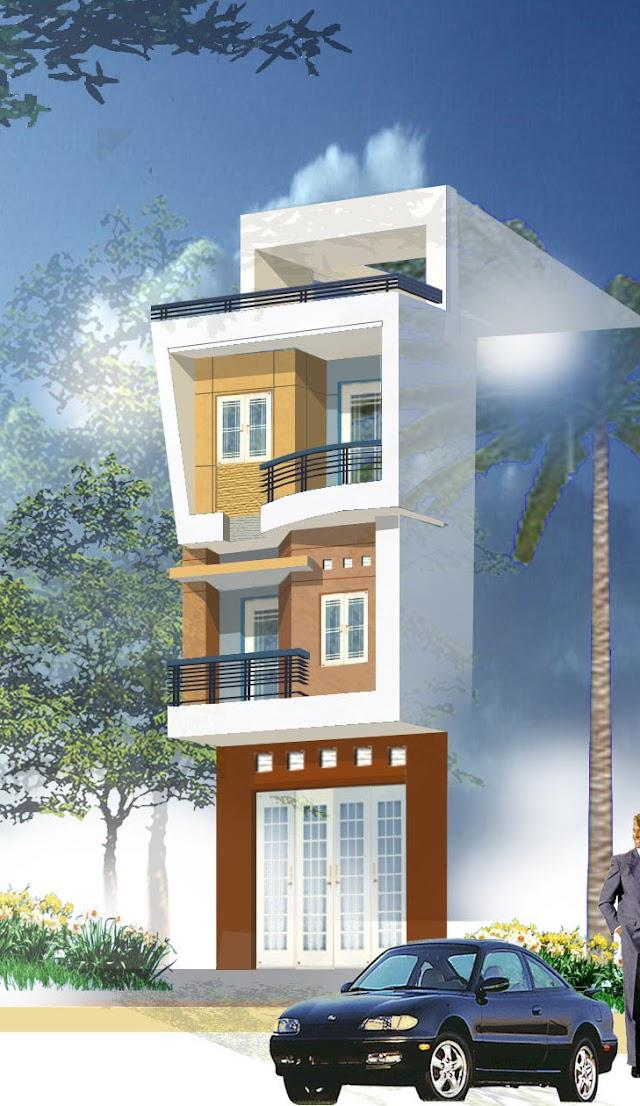 Chia sẽ file cad thiết kế nhà phố nhỏ kích thước 2750x8700