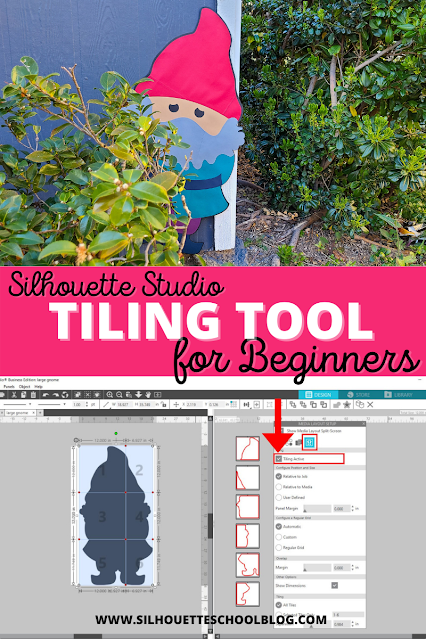 silhouette 101, silhouette america blog, silhouette studio business, tiling feature, paper crafts