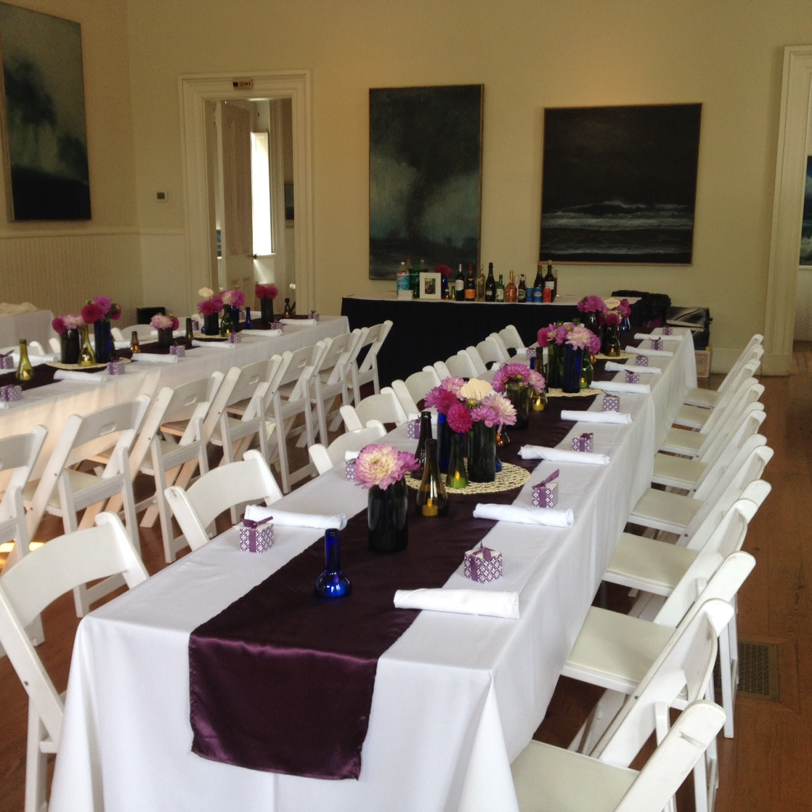 Set Up For Kate And Conor S Wedding Reception