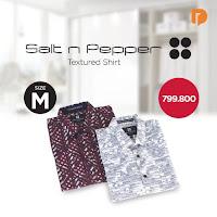 Dusdusan Salt N Pepper Textured Shirt Size M (Set of 2) ANDHIMIND