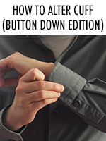 Sleeves too long? That's an easy fix with this step by step tutorial