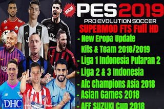 FTS Mod PES 2019 New Competition Update Kits & Player Apk + Data Obb