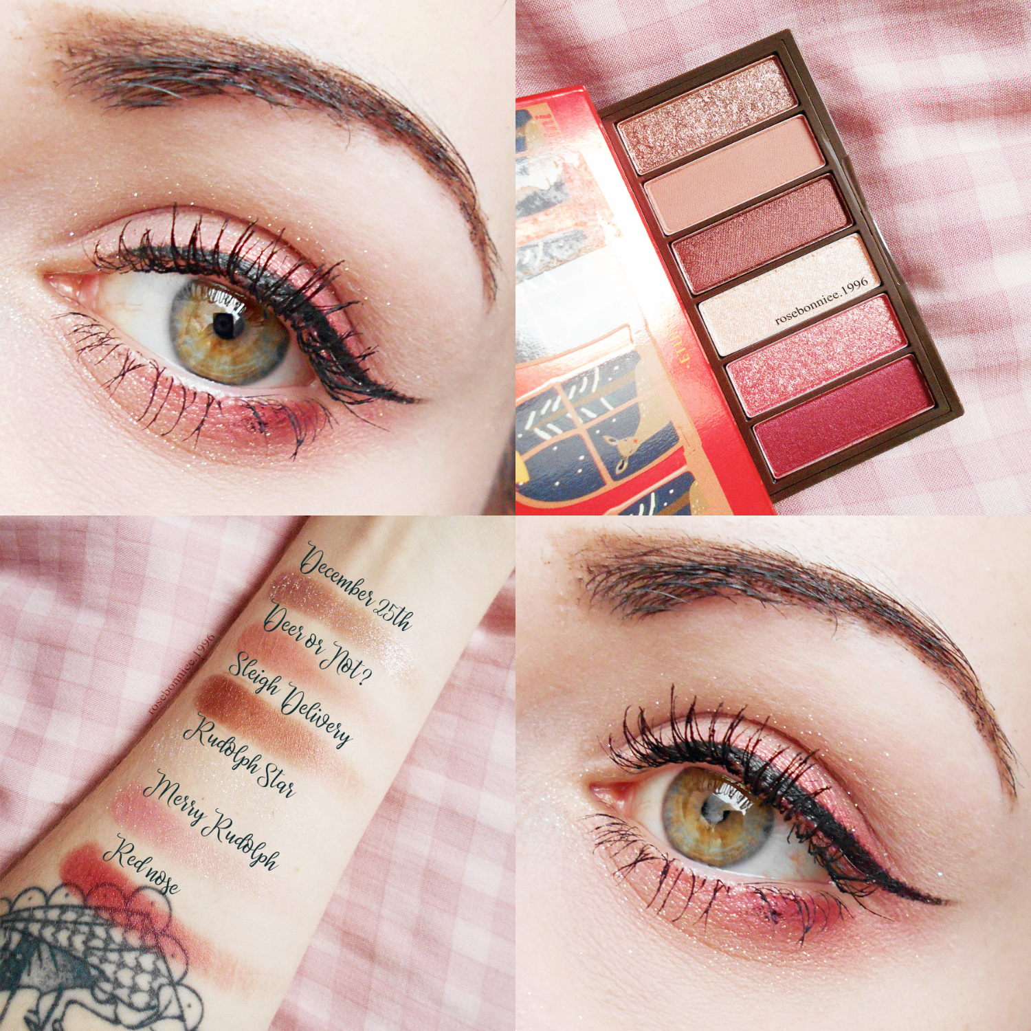 Etude House Play Color Eyes Mini Palette Rudolph Holiday Edition swatches