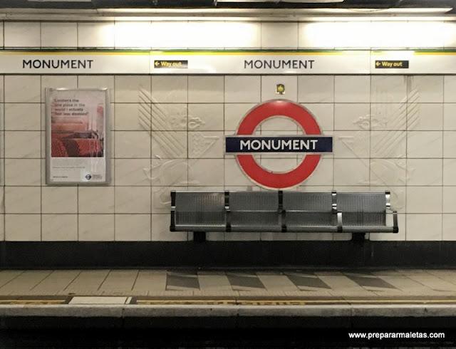estación Monument de Londres