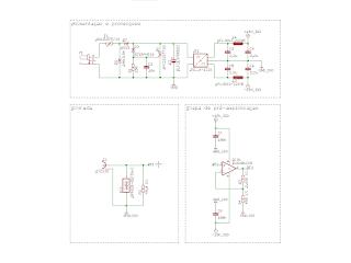 Circuitos da secção de alimentação e da etapa de pré-amplificação.