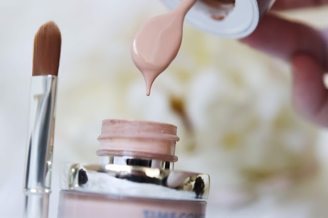textura de base de maquillaje