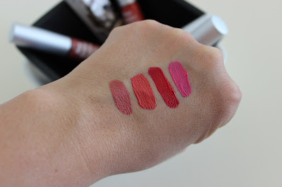 theBalm Meet Matte Liquid Lipsticks swatches